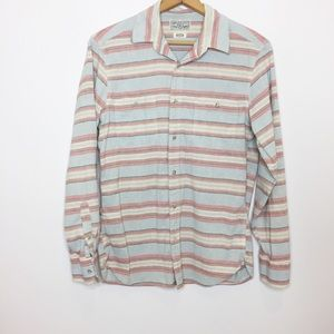 Lucky Brand Striped button-down shirt M medium